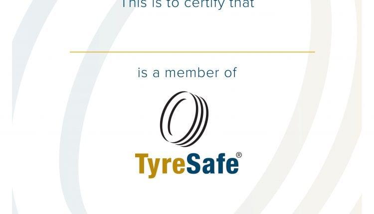 TyreSafe A4 Certicate 2020